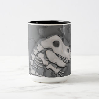 Dinosaur Fossil Two-Tone Coffee Mug