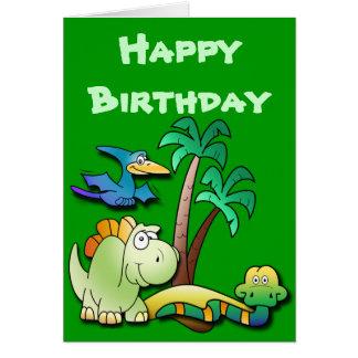 Dinosaur Friends Birthday Card