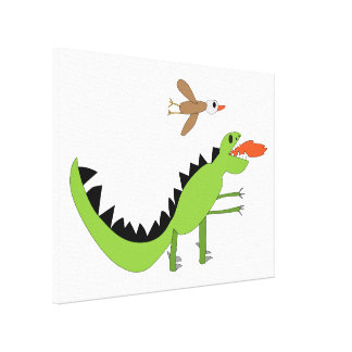 Dinosaur Friends Canvas Print