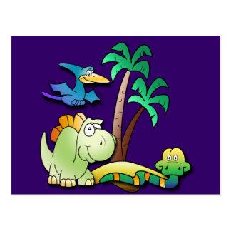 Dinosaur Friends Postcard