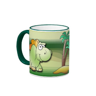 Dinosaur Friends Ringer Mug