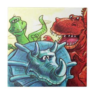 Dinosaur Friends Tile