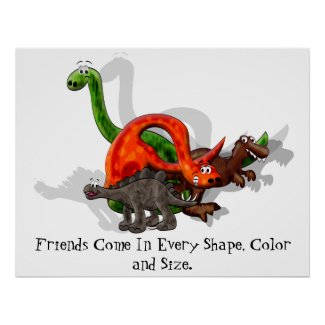 Dinosaur Friendship Poster