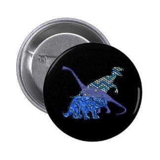 Dinosaur Gang 2 Inch Round Button