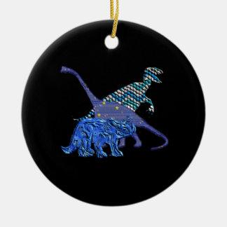 Dinosaur Gang Ceramic Ornament