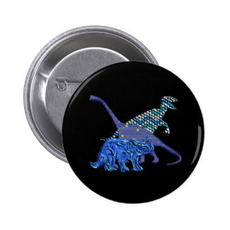 Dinosaur Gang Pinback Button