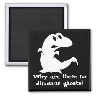 Dinosaur Ghost 2 Inch Square Magnet