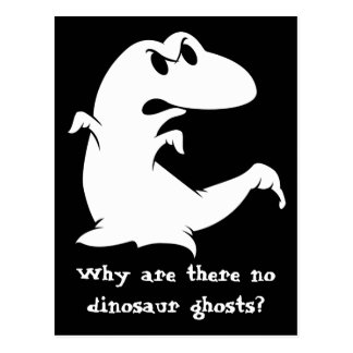 Dinosaur Ghost Postcard