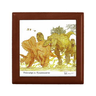 Dinosaur Gift Box  T rex vs Triceratops Greg Paul