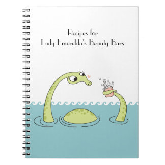dinosaur girly sea monster soap bubbles bath notebook