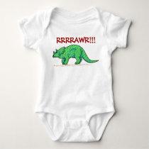 Dinosaur Growl Rawr! Baby Bodysuit
