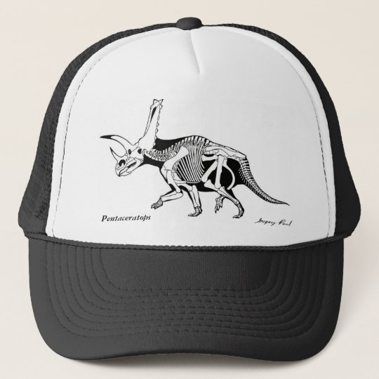 Dinosaur Hat Pentaceratops skeleton  Gregory Paul