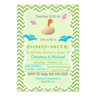 Dinosaur Hatching Baby Shower Invitation