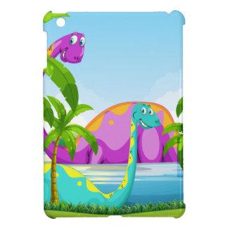 Dinosaur having fun in the lake case for the iPad mini