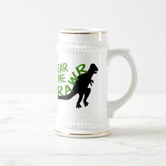 Dinosaur Hear Me Rawr Beer Stein