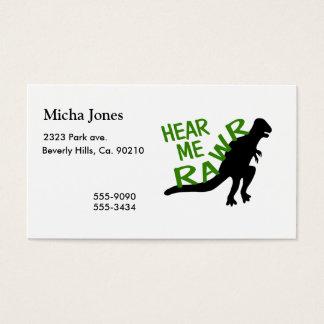Dinosaur Hear Me Rawr Business Card