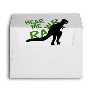 Dinosaur Hear Me Rawr Envelope