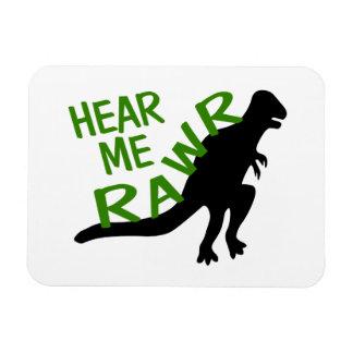 Dinosaur Hear Me Rawr Magnet