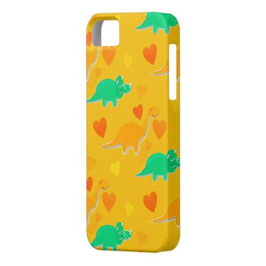 Dinosaur Hearts Pattern iPhone 5 Case