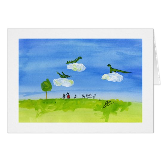 Dinosaur Heaven Card