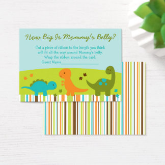 Dinosaur How Big Is Mommy's Belly Game Business Card