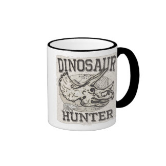 Dinosaur Hunter Design by Mudge Studios Ringer Mug