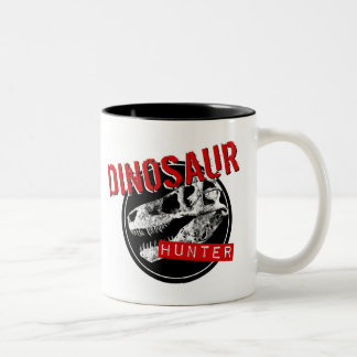 DINOSAUR HUNTER Two-Tone COFFEE MUG