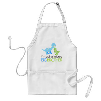 Dinosaur I'm Going to Be A Big Brother Adult Apron