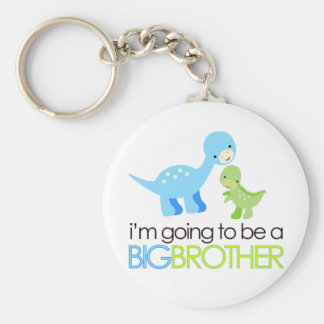 Dinosaur I'm Going to Be A Big Brother Keychain