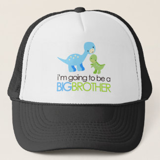 Dinosaur I'm Going to Be A Big Brother Trucker Hat