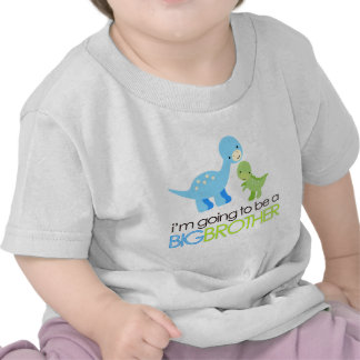 Dinosaur I'm Going to Be A Big Brother Shirt