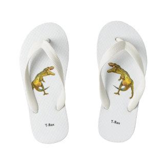 Dinosaur image for Flip-Flops-Kids Kid's Flip Flops
