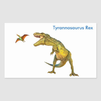 Dinosaur image for Rectangle-Stickers-Glossy Rectangular Sticker
