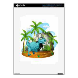 Dinosaur in front of the cave iPad 3 skin