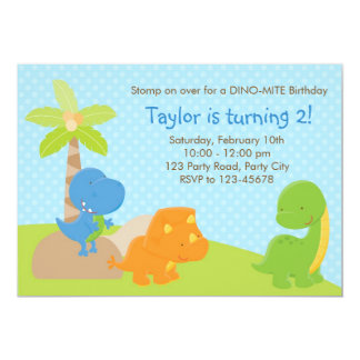 Dinosaur Invitation - Boy Birthday / Baby Shower