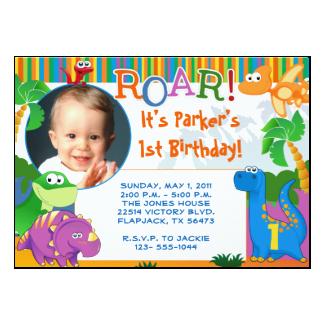 Dinosaur Invitation - Kids Birthday 5