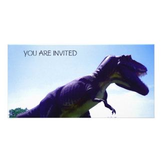 Dinosaur Invitation Photo Card