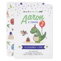 Dinosaur Invitations, Boys birthday invitations