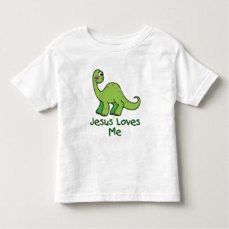 Dinosaur Jesus Loves Me T Shirt