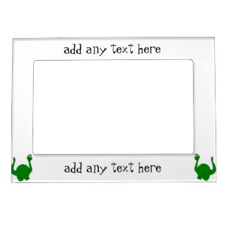 Dinosaur Just Add Text Magnetic Photo Frame