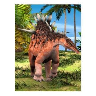 Dinosaur Kentrosaurus Postcard