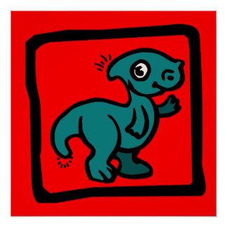 Dinosaur kid poster