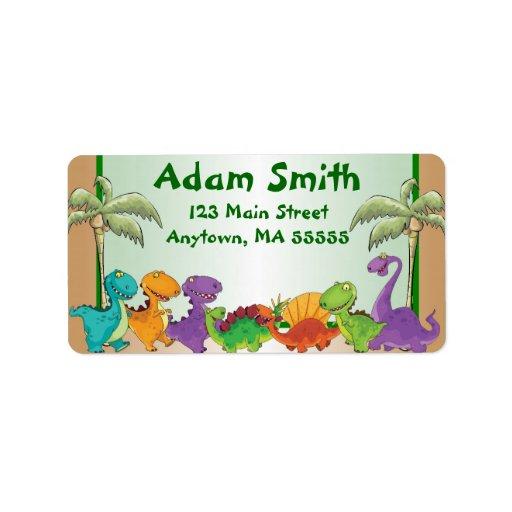 Dinosaur Kids Address Labels
