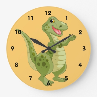 Dinosaur Kids Wall Clock