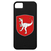 Dinosaur King Red Crest on Black iPhone 5 Case