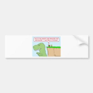 dinosaur land predator need help bumper sticker