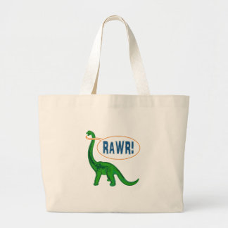Dinosaur Large Tote Bag