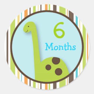 Dinosaur Lil Dino Monthly Milestone Stickers