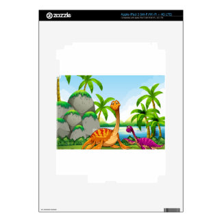 Dinosaur living in the jungle iPad 3 decal