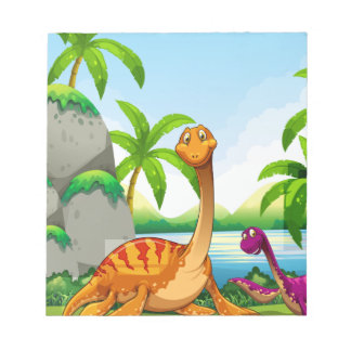 Dinosaur living in the jungle notepad